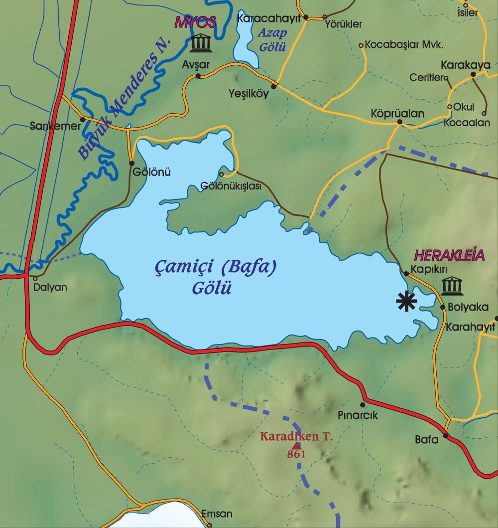 herakleia bafa gölü haritası ile ilgili görsel sonucu