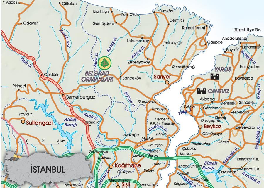 belgrad ormanı haritası ile ilgili görsel sonucu