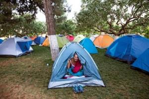 Katılımcılar, Batalhöyük'teki kamp yerinde konakladı.