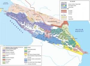Atlas Kartografya Servisi / Kaynak: Artur Tsutsiyev, Atlas Etnopolitiçeskoy İstorii Kavkaza (1774-2004), Moskova, 2006