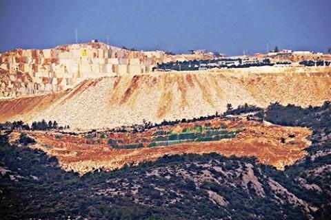 Kesilen Dağı Yeşile Boyadılar!
