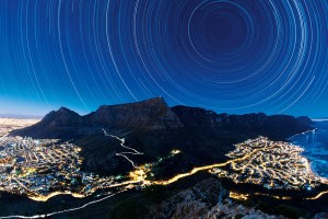 Star trails over Cape Town, South Africa. | Atlas |