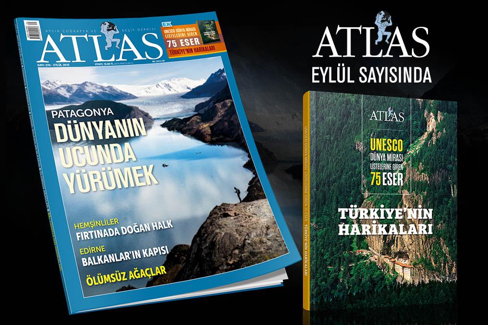 """Atlas'ın Eylül sayısında """"Türkiye'nin Harikaları"""" Kitabı Hediye"""