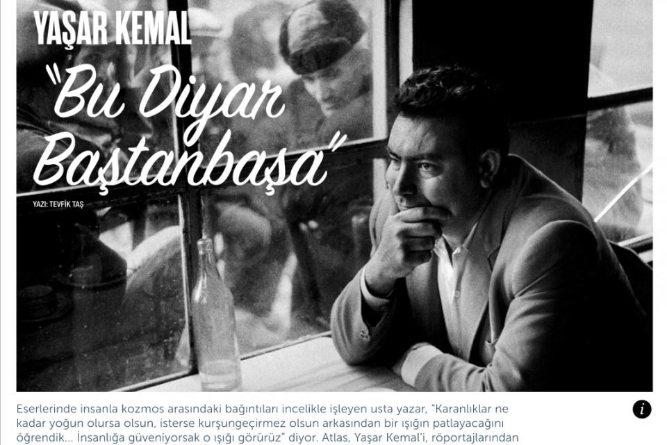 """Yaşar Kemal; """"Bu Diyar Baştanbaşa"""""""