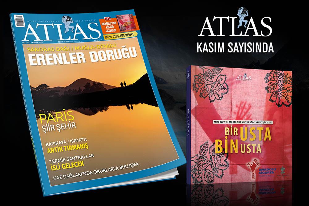 Atlas'ın Kasım Sayısı  Bir Usta Bin Usta Kitabı Hediye