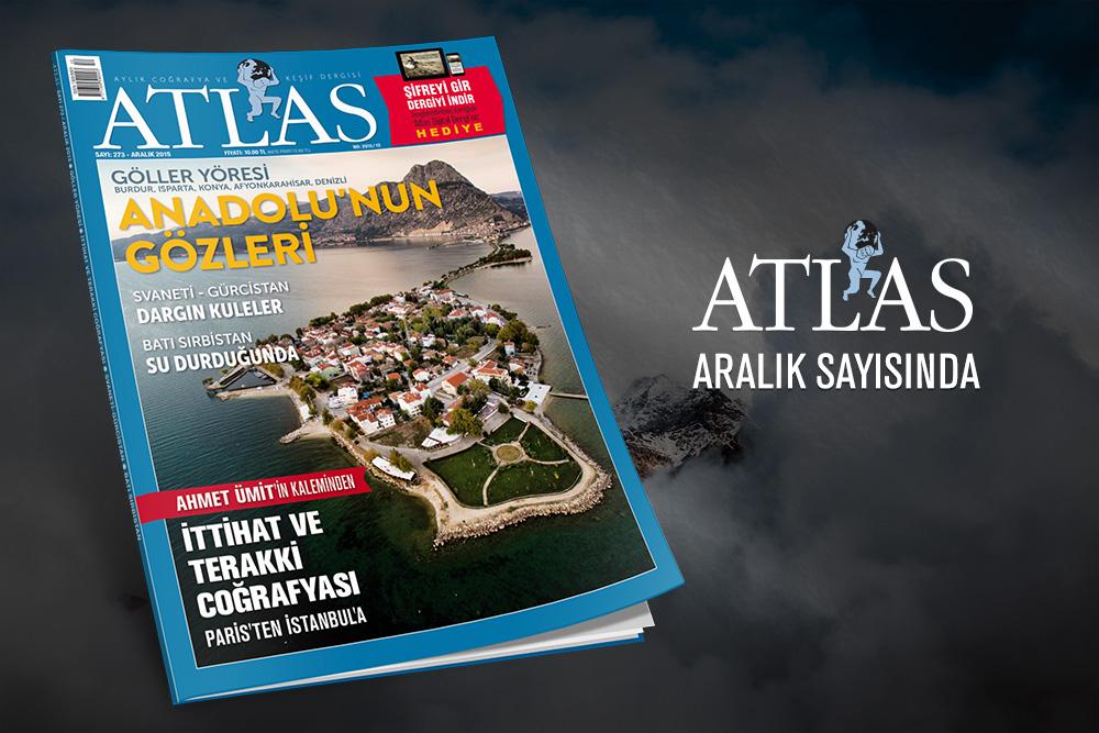 """Atlas'ın Aralık Sayısı;  Atlas'ı alanlara """"Dijital Atlas"""" hediye"""