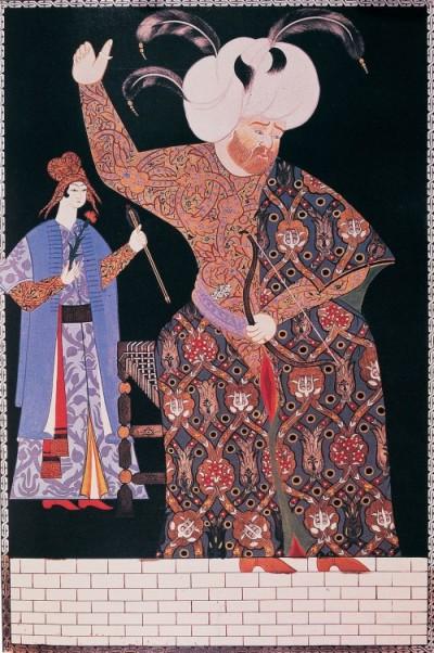 Nigari 'nin yaptığı Kanuni Sultan Süleyman minyatürü