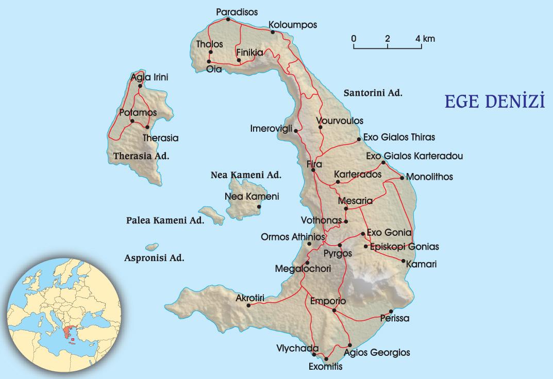 Santorini Adası - Yunanistan | Atlas | Atlas Rotaları