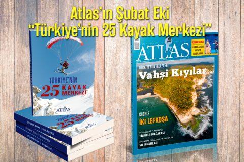 """Atlas'ın Şubat Eki: """"Türkiye'nin 25 Kayak Merkezi"""""""