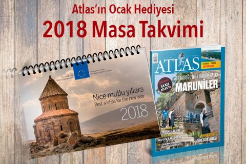 Atlas'tan hediye: 2018 masa takvimi