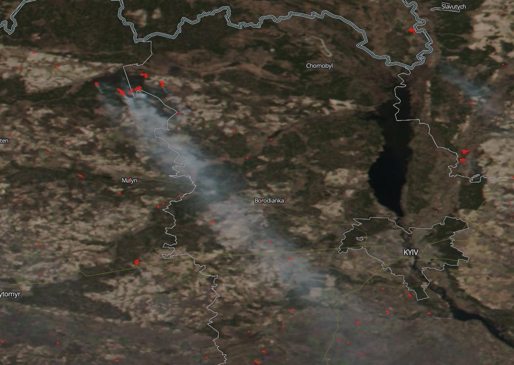 Çernobil yangınında son durum! NASA'nın uydusu yangını görüntüledi | Atlas | Gündem