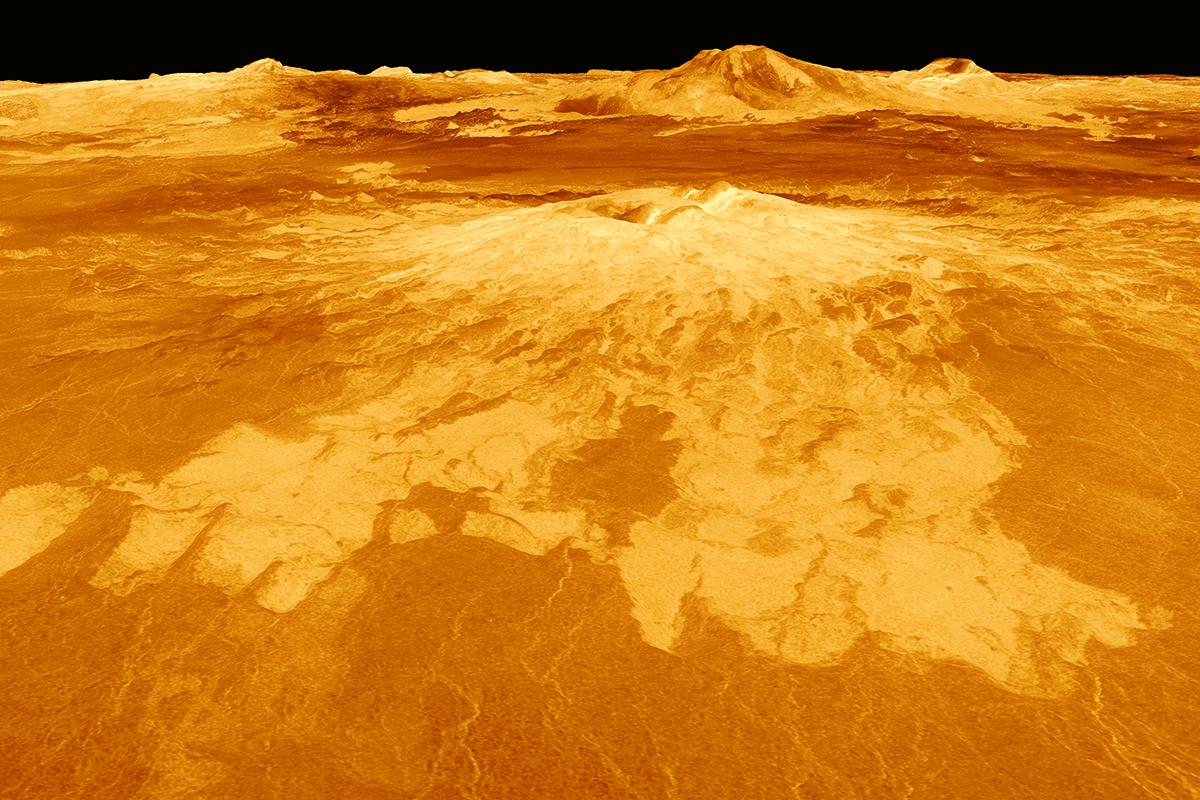Okyanuslarla kaplı eski Venüs   Atlas   venüs